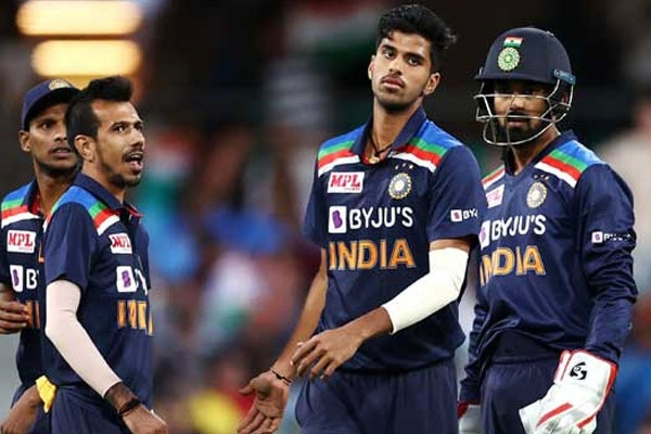 Teamindia fined 20 percent of match fee for slow over rate in third t20